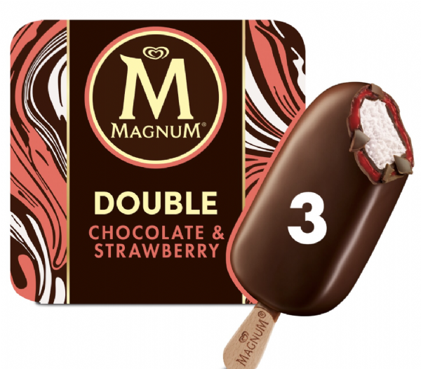 Walls Magnum Double Choc & Strawberry 3pk